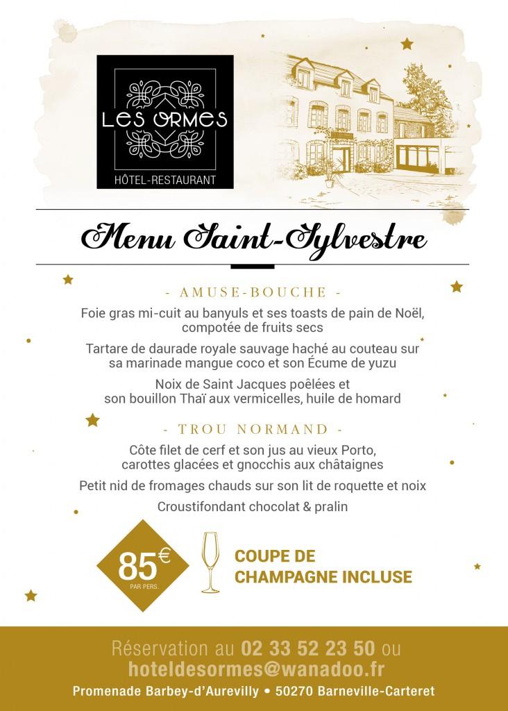 HOTEL LES ORMES - MENU saint sylvestre - Flyer A5 - 2017 - V3